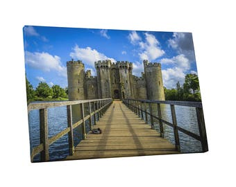 Castles and Cathedrals Historic Bodiam Castle and Moat Gallery Wrapped Canvas Print