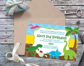 Dinosaur Digital Invitation