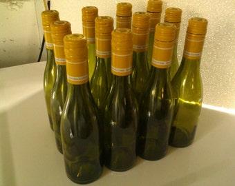 48 Empty wine bottles burgundy style 375 ml screw cap.