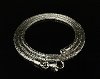 Silver Mesh Necklace // 925 Sterling Silver // Lobster Clasp // 18-20 Inches Length
