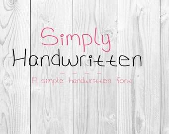 Simply Handwritten - a handwritten font