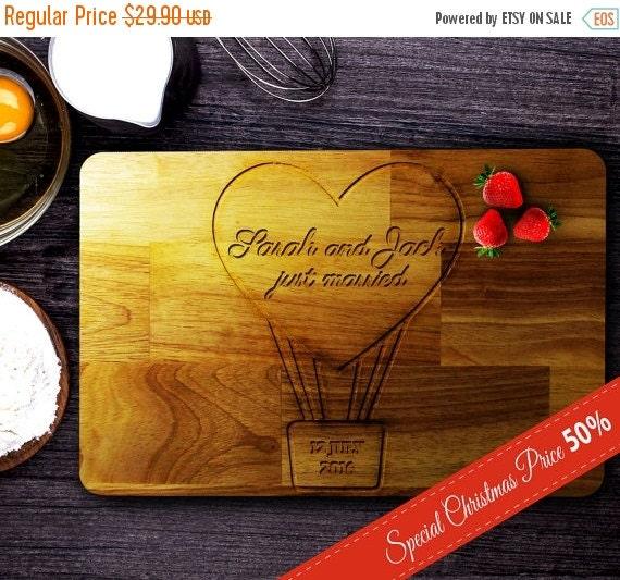 Personalized Christmas gift,wood custom cutting board,wedding gift,chopping board,personalized gift,anniversary gift,custom wedding gift, 06