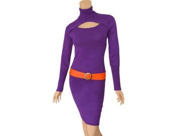 Purple + Orange Sweater Dress