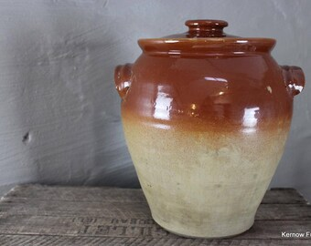 Large Stoneware Jar & Lid