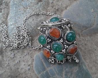 Original necklace, handmade locket necklace, basket-shape necklace, secret necklace, video here - https://youtu.be/xMc23SMnn7w
