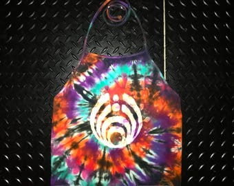 Basshead Tie Dye Halter Top - Festival Clothing - Rave Apparel - Bassnectar - Handmade - Michigan Made - Sizes available: S~L - Crop Top