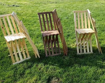 Medieval Wood Folding Chair