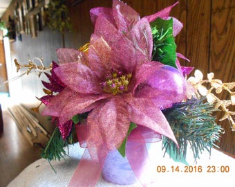 Lavender Christmas Floral Arrangement