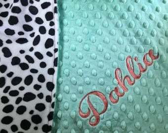 Dalmatian Blanket Pet Blanket Puppy Blanket Dog Blanket Personalized Blanket Personalized Dog Blanket Paw Print Bulldogs Fan Gift Hound Dogs