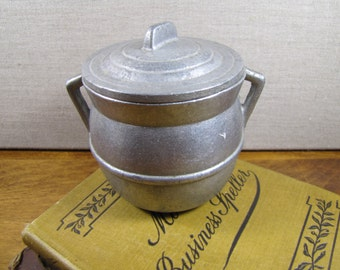 Small Pewter Bean Pot With Lid