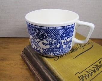 Blue Willow Coffee Mug - Creamy White - Shades of Blue