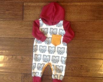 Owl love long sleeve baby romper