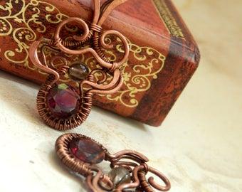 Salmandre * fiery earrings