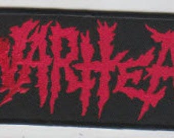 Warhead punk hardcore embroidered patch