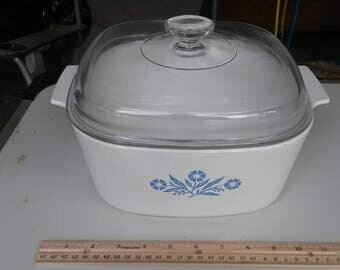 Vintage Corningware Blue Cornflower 5 Qt Dutch Oven