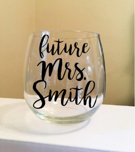 Future Mrs. Stemless Wine Glass