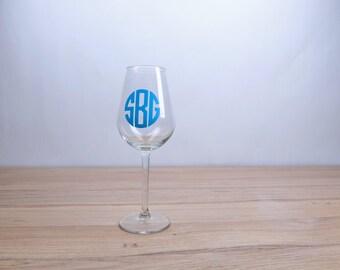 Wine Glass Glasses Monogram MonogramedbPersonalized Large 20 Ounce