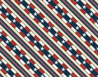 Heritage Diagonal Stripe from Wilmington by the yard