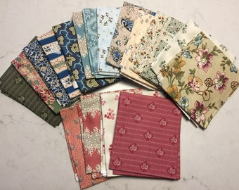 Maren Scott A Little Bird Told Me 18 cotton quilting fabric Windham Fabrics fat quarters fat quarter bundle