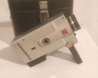 Old Camera KODAK Instamatic Movie M6 Camera + case leather Vintage