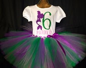 Girl's sixth birthday outfit, 6th Birthday tutu, Mermaid Birthday, 6 years old shirt, girls outfit, birthday set, sixth birthday outfit