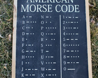 American Morse Code FARMHOUSE SIGN