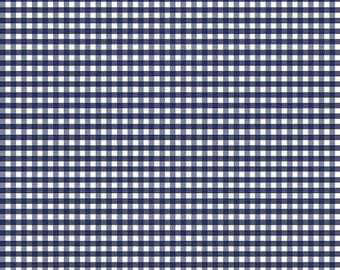 """Navy Blue 1/8"""" Gingham Fabric from Riley Blake Designs - listing for 1 Yard -FM"""