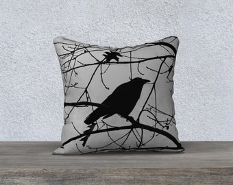 """Crow in Tree Photographic Pillow (18"""" x 18"""" and 22"""" x 22"""")"""