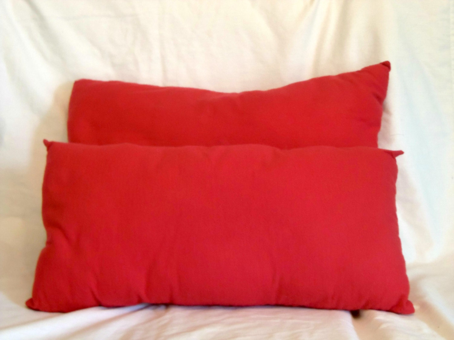 Red Throw Pillow For Bed : Decorative Bed Pillows Two Pillow Set Red Flannel Pillows