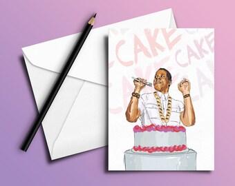 Jay-Z Birthday Card 'Pound Cake' (Hip-Hop / Rap cards)