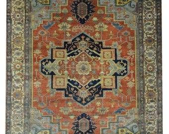 "Handmade Persian Heriz Rug Design# 2126, Size- 9' - 0"" x 11' - 11"""