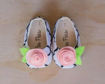Baby Shoes Baby Girls Shoes Toddler Girls Shoes Soft Sole Shoes Summer Shoes Black and White Shoes With Pink Bow