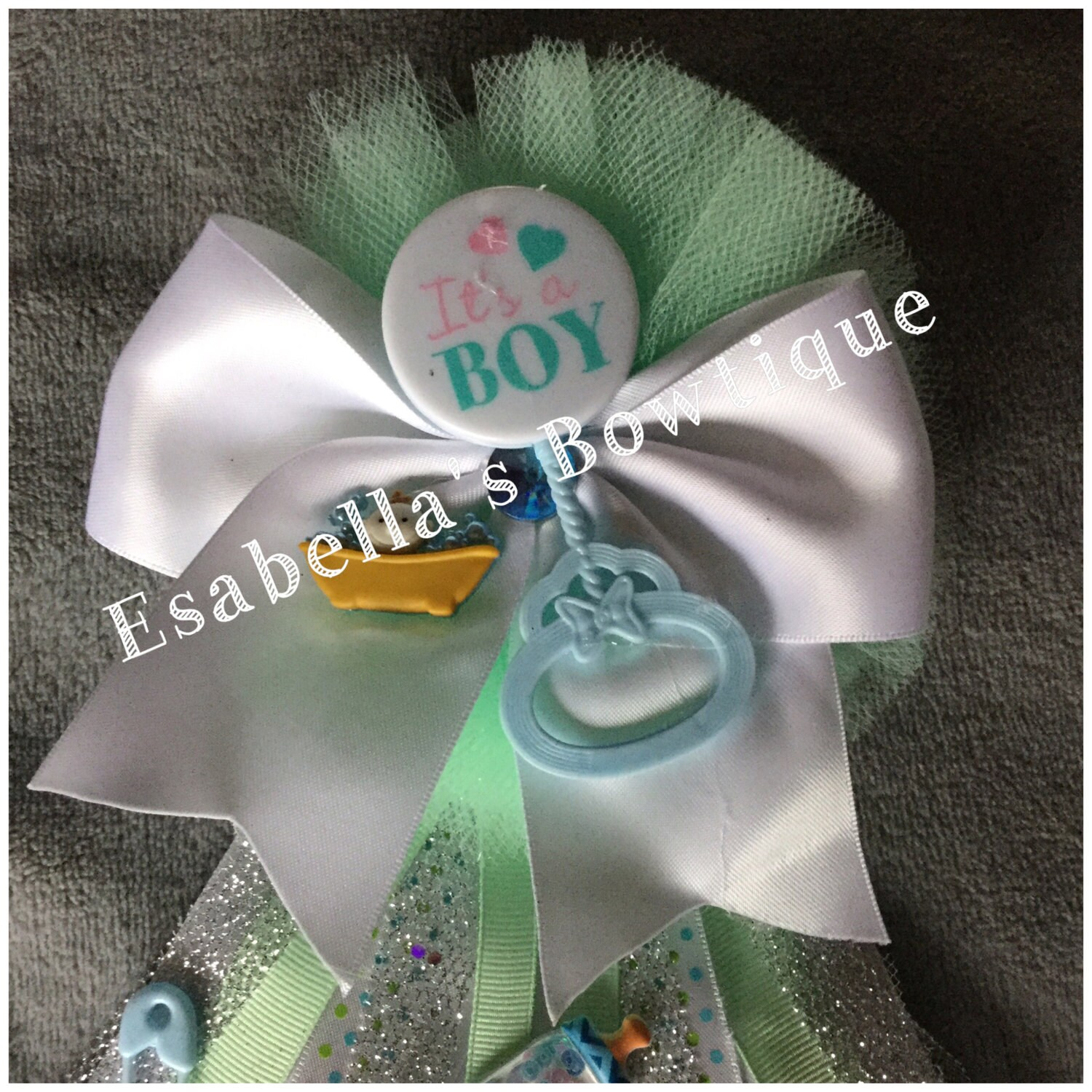 Mint green baby shower corsage baby shower corsage baby boy
