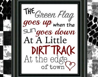 Dirt Track Racing, 8x10 Instant Download