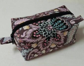 Large Make-up bag, cosmetic bag, girls gifts, toiletry bag, Travel bag, boxy bag