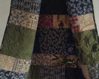 Military Quilted Throw