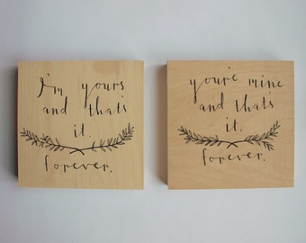 Avett Brothers Lyric Panel-- Typography, Wood Panel, Ballad of Love and Hate