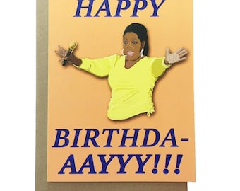 Oprah - Birthday Card