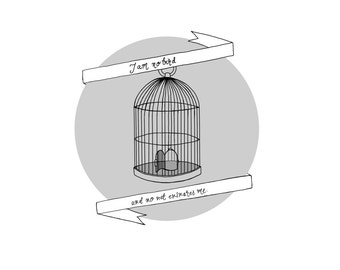Jane Eyre print - 'I am no bird, and no net ensnares me' - for strong women