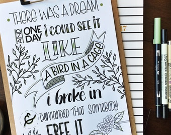 Items similar to art print famous song lyrics quote room decor inspiring text motivational for Living in a box room in your heart lyrics