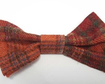 Large bow hair clip/accessory tartan plaid