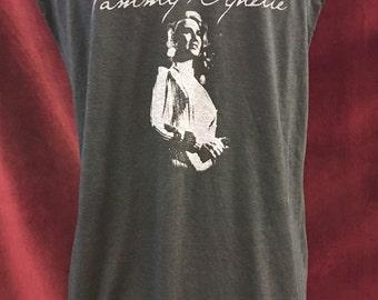 Custom Distressed Tammy Wynette Tshirt