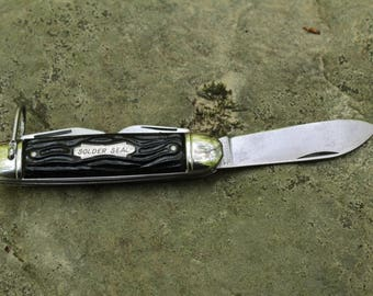 Vintage Solder Seal camping knife made by Colonial