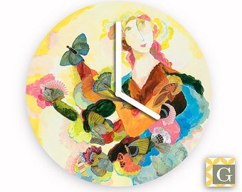 Wall Clock by GABBYClocks - Arctic by Kimberly Hodges