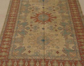 25%OFF SALE Size:7.3 ft by 5.9 ft Handmade Kilim Afghan Tribal Sumak Chobi Kilim