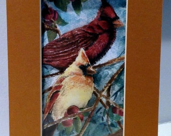 3-D Cardinals Paper-cut Greeting card