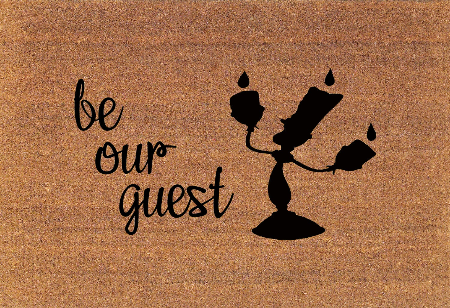 Be Our Guest Beauty And The Beast Lumiere Disney Door Mat