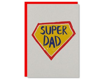 Fathers Day card | Super Dad! Best Dad Father's Day or dads birthday card | Recycled card