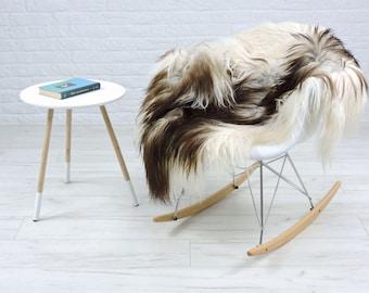 Luxury genuine Icelandic sheepskin rug natural color single 130cm x 85cm, G536