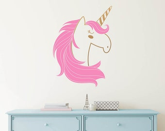 Unicorn Wall Decal   Cute Unicorn Decal, Kids Wall Decal, Nursery Decal,  Removable Part 86
